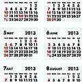 PB手帳貼 月曆貼白 $100-20120921-062732