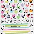 PB手帳貼 熊貓系列 TM-96重點圓線 $90