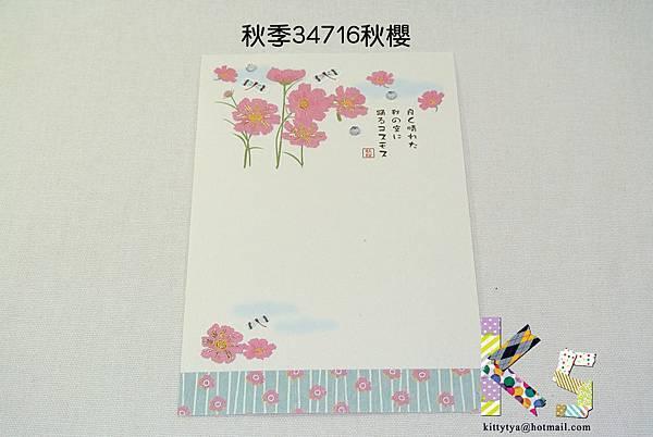 季節和紙明信片 秋季34716秋櫻 $75