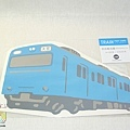 日本JR電車明信片 京濱東北線藍 $210 A