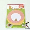 可收手帳內 甜甜圈熊造型便利貼 $135
