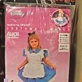 迪士尼TDL限定 小朋友COSPLAY裝扮衣 附髮圈 愛麗絲