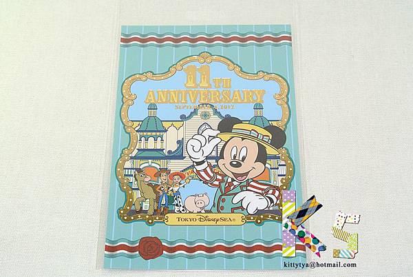 迪士尼海洋限定 11週年記念明信片 燙金米奇船長&玩具總動員 $120 A