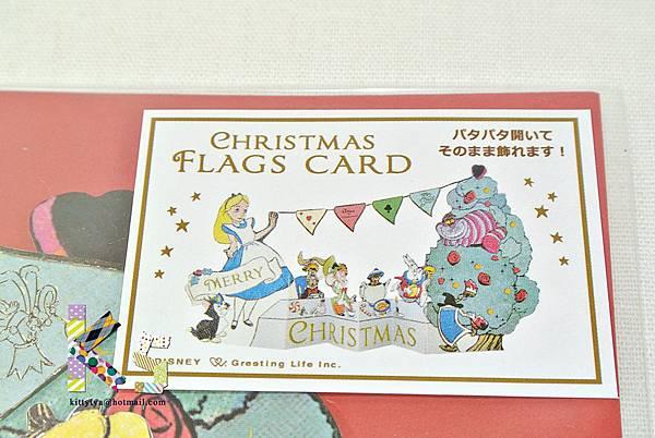迪士尼造型立體聖誕卡片 DM-81愛麗絲 $250 A