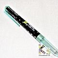 PILOT HI-TEC-C COLETO變芯筆限定四色筆管 寶石心系列 黑底綠心 $110/支 A