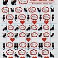 oriental 半透明手帳貼紙 S-769 黑貓 $75