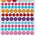 oriental 半透明手帳貼紙 S-1049 鈕扣 $75