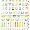 TONARY AIUEO系列 POP手帳貼紙 SPS-03窗簾 $140 A