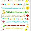 TONARY AIUEO系列 POP手帳貼紙 SPS-10花邊線2代 $140 A