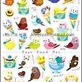 BEVERLY手帳貼紙 速食動物系列 SL-095冰淇淋鳥 $90