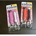 日本媽媽愛用人氣兒童用品 日本製EDISON迪士尼限定款 叉子湯匙組 米妮/米奇