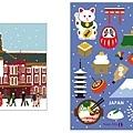 TokyoCity限定主題明信片 2014年冬限定 共二款,一張$80
