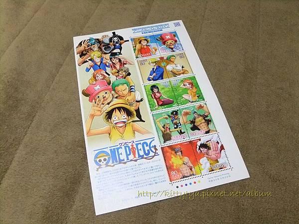 現貨已售完~需代買~$360 日本海賊王紀念郵票¥80面額x10枚