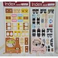 $90 懶熊 memo分類標籤貼紙 懶熊 / 靴下貓