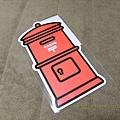 $110 紅色郵筒型明信片-東京限定版 有加蓋LOWSON店頭紀念章