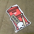 $110 紅色郵筒型明信片後樂園限定版 加蓋LOWSON店頭紀念章