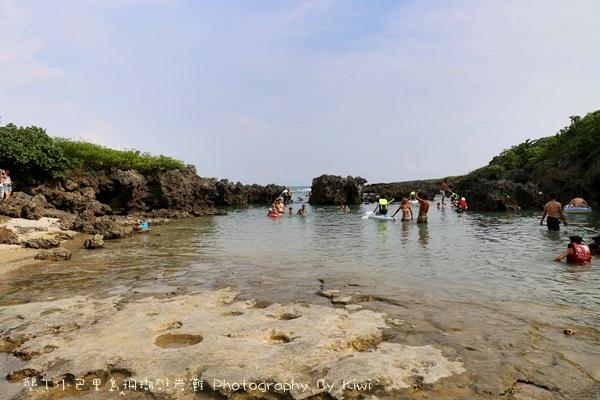 屏東墾丁小巴里島珊瑚礁岩灘恆春景點親子遊玩水0661