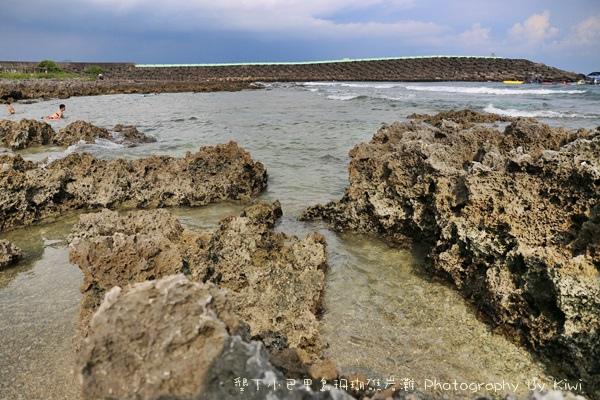 屏東墾丁小巴里島珊瑚礁岩灘恆春景點親子遊玩水0645