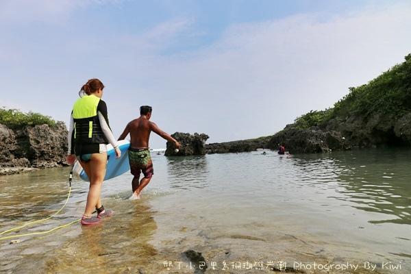 屏東墾丁小巴里島珊瑚礁岩灘恆春景點親子遊玩水0657