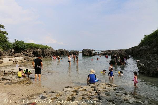 屏東墾丁小巴里島珊瑚礁岩灘恆春景點親子遊玩水0664