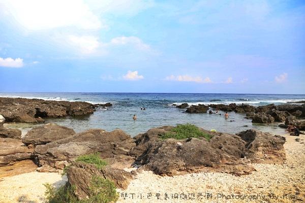 屏東墾丁小巴里島珊瑚礁岩灘恆春景點親子遊玩水0677
