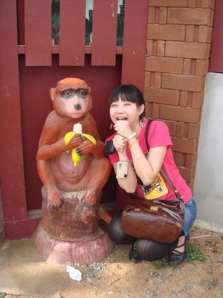 跟猴子吃香蕉