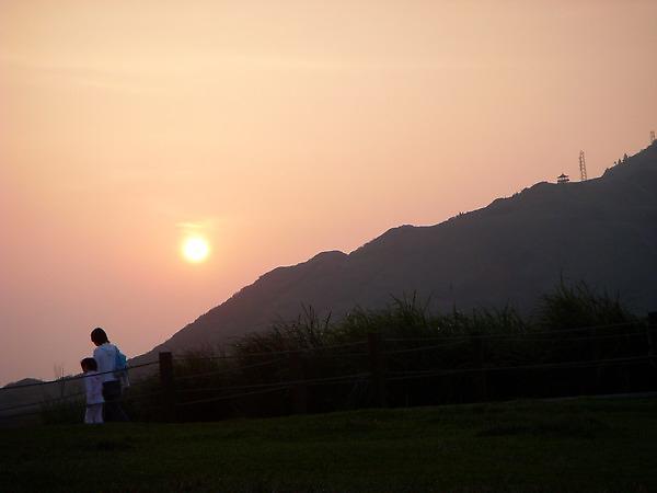擎天崗夕陽
