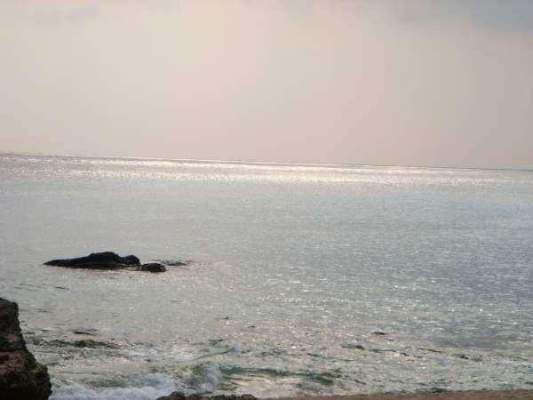 白沙灣的夕陽