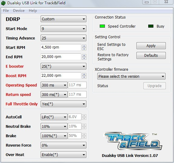 Dualsky ESC Turbo 程式設定初級指南