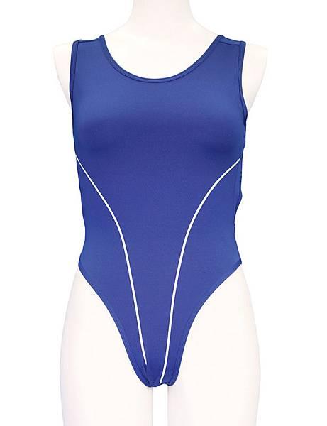 おとこの娘用競泳水着2L ブルー4