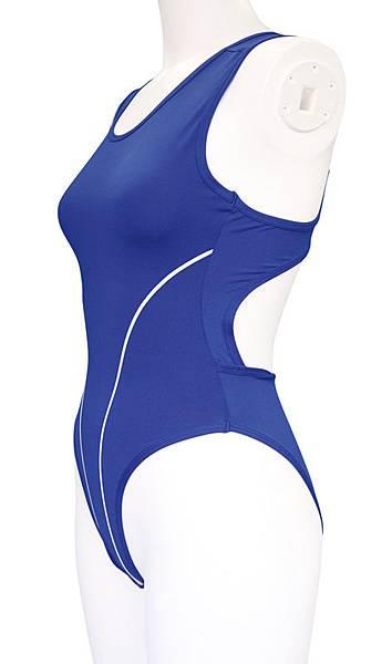 おとこの娘用競泳水着2L ブルー5