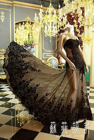 蘇菲華服婚紗推薦宴客婚紗黑色婚紗禮服