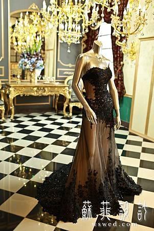 蘇菲華服0婚紗推薦宴客婚紗黑色婚紗禮服