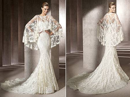 Pronovias-Manuel-Mota-Erika-FUll-Lace-Fitted-Wedding-Dress-With-Lace-Poncho-Front-Back.jpg