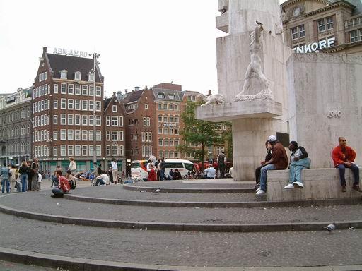 荷蘭097-水壩廣場與舊皇宮.JPG