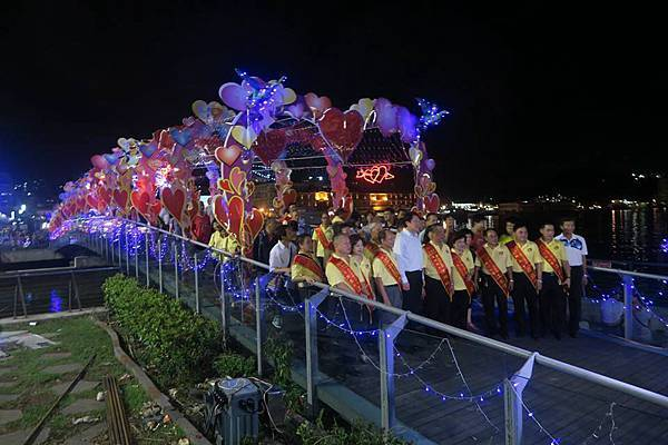 1040815基隆中元祭活動情人鵲橋點燈儀式 (2).jpg