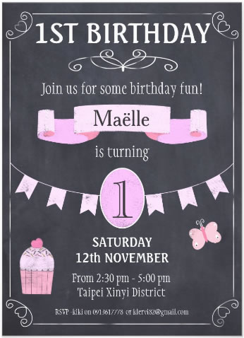 Maelle Bd invitation