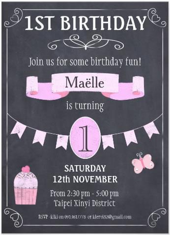 Maelle Bd invitation