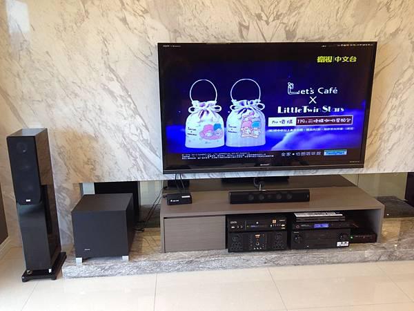 家庭劇院推薦-金門音響作品編號13001--台北市北投區文林北路張小姐7.1聲道客廳影音卡拉O家庭藍光劇院規格