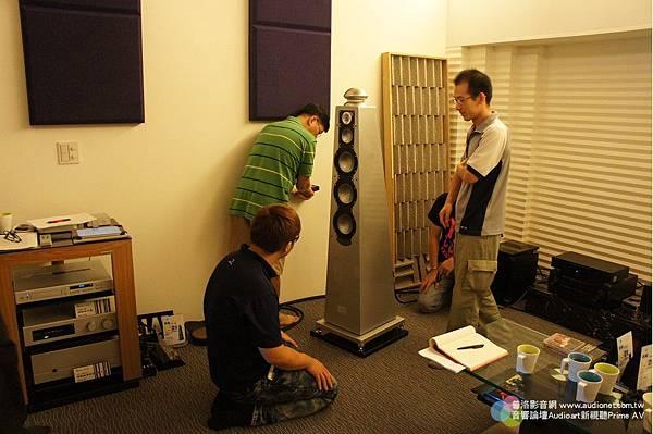 金門音響喇叭調音訓練-二邊ELAC喇叭的位置是否一致