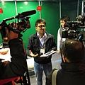 電視媒體採訪金門音響KM環控系統區