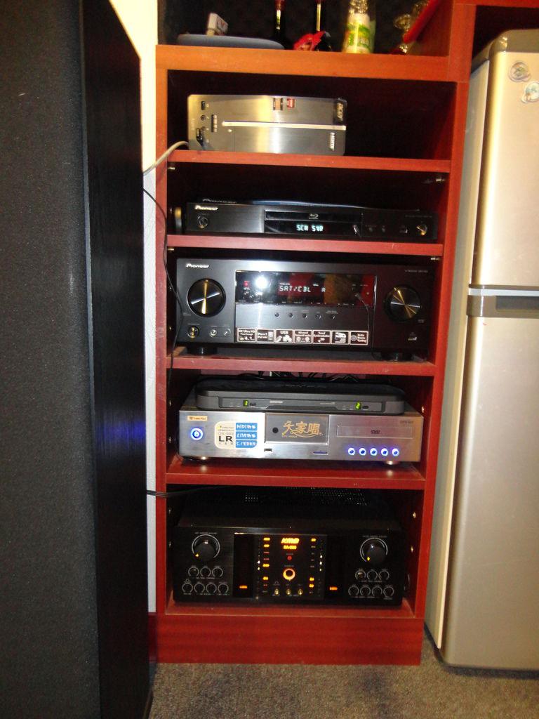 Paradigm音響│音響品牌-金嗓大家唱+KMB擴大機KM-800+Pioneer擴大機+Pioneer藍光播放機