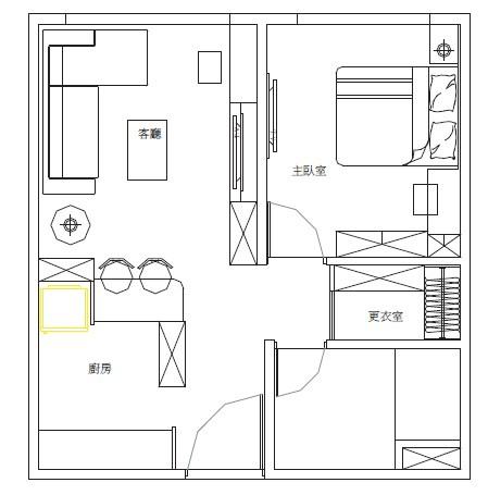 Elipson小套房音響喇叭裝潢設計-現場平面設計圖