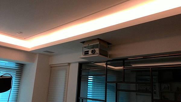 Epson投影機和ELAC崁入式喇叭,金門音響設計規劃