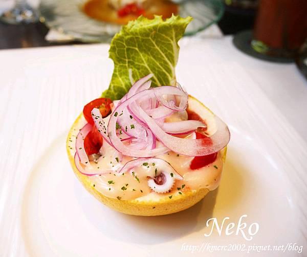 沙拉 - 義式柚香墨魚沙拉