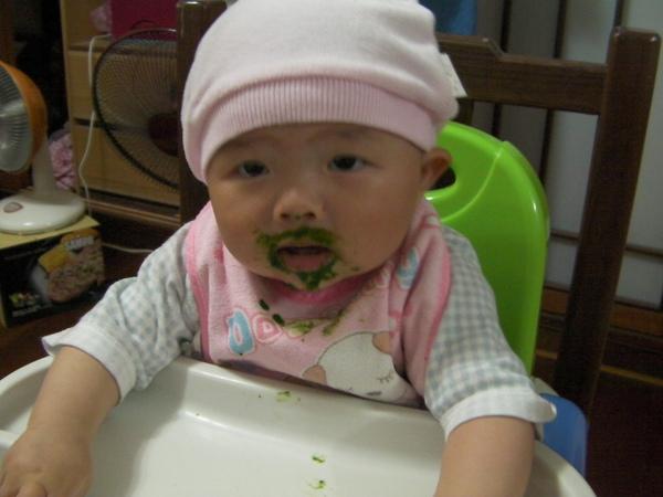 學吃蔬菜泥