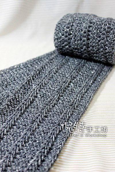 長鉤針空花圍巾