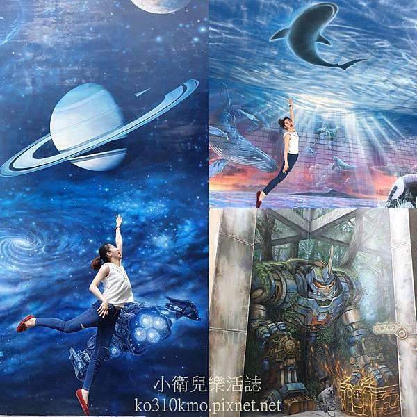 彰化免費景點-萬興國小彩繪牆
