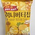 2019韓國超市必吃必買-Calbee 蜂蜜奶油洋芋片