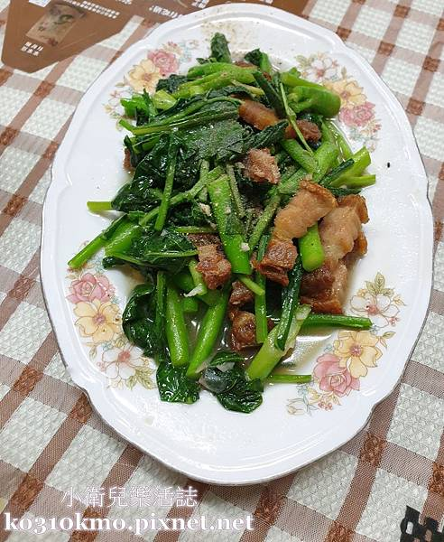 鹿港美食.永泰泰式料理-芥藍豬肉